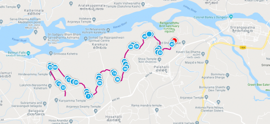 KTM - FM route map